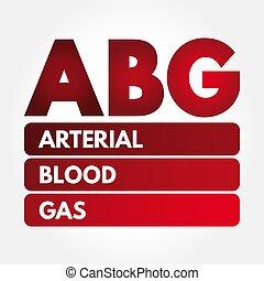 acronimo, -, arterioso, abg, gas, sangue