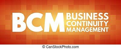 acronimo, bcm, affari, amministrazione, continuità, -