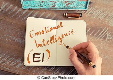 acronimo, emotivo, ei, affari, intelligenza