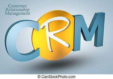 Customer Relationship Management - acronym concept: CRM for...