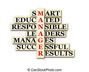 manager - acronym concept of manager and other releated...
