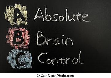 Acronym of ABC -Absolute brain control