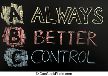 Acronym of ABC - always better control