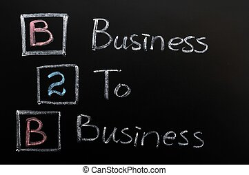 Acronym of B2B - Business to Business
