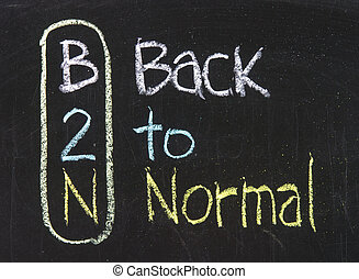 Acronym of B2N - Back to Normal