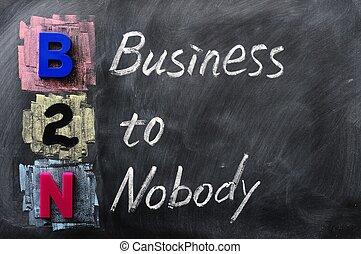 Acronym of B2N - Business to Nobody