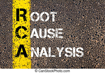 Acronym RCA - Root Cause Analysis. Business Conceptual image...