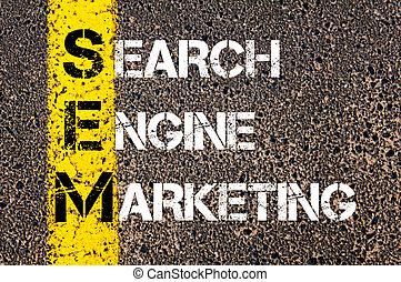 Acronym SEM - Search Engine Marketing