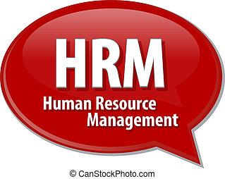 acronym word speech bubble illustration HRM
