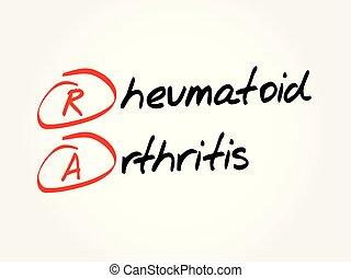 acronyme, -, arthrite, rhumatoïde, ra