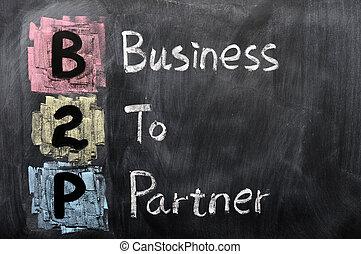 acronyme, associé, -, business, b2p