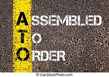 acronyme, ato, assemblé, business, ordre