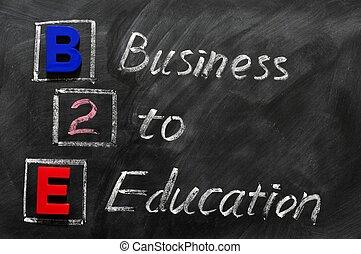 acronyme, b2e, education, -, business