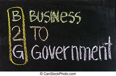 acronyme, b2g, -, business, gouvernement
