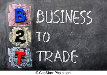 acronyme, b2t, -, business, commercer