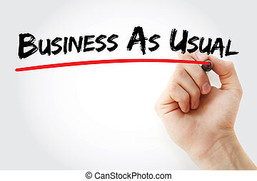 acronyme, bau, -, business, habituel