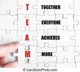 acronyme, business, laissez perplexe morceau, équipe, dernier