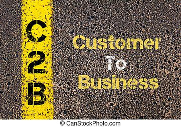 acronyme, c2b, client, business