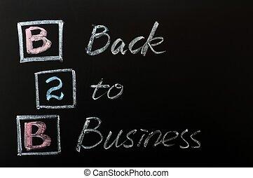 acronyme, -, dos, business, b2b
