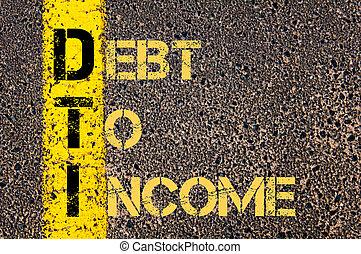 acronyme, dti, dette, business, revenu