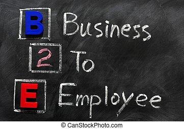 acronyme, employé, b2e, -, business