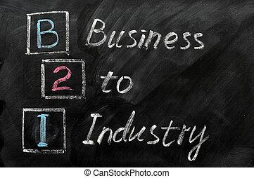 acronyme, industrie, -, b2i, business