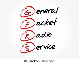 acronyme, service, -, gprs, paquet, général, radio