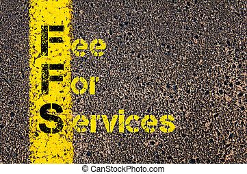 acronyme, services, honoraires, ffs, business