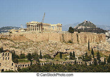 Acropolis and Lycabettus Hill, Athe