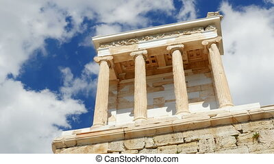 """Acropolis, Athens, Greece, Timelapse, zoom out, 4k"""