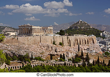 Acropolis, Athens - View on Acropolis and Likavitos, Athens...