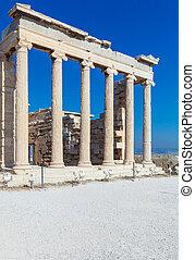 acropolis, erechteion, atény, sloupec