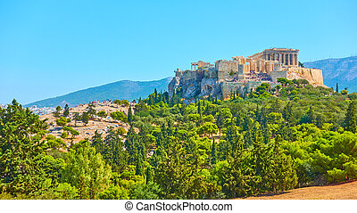 Acropolis hill in Athens