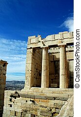 Acropolis in Athens - At the Acropolis in Athens, Greece.