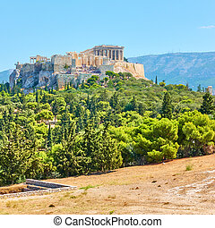 Acropolis in Athens - Viev of the Acropolis and from Hill of...