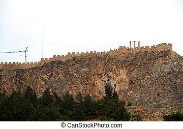 Acropolis in Lindos/Greece