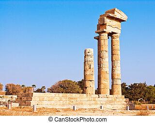 Acropolis in Rhodes Island