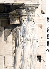 Acropolis Maiden Columns - Columns on the Porch of Maidens...