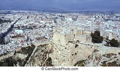 Acropolis of Athens ancient citadel in Greece, aerial view....