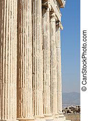 Acropolis of Athens. Erechtheion columns. Greece