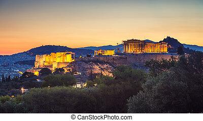 Acropolis of Athens, Greece at sunrise