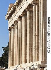 Acropolis of Athens. Parthenon columns. Greece