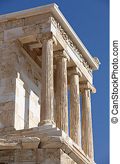 Acropolis of Athens. Temple of Athena Nike. Greece. Vertical