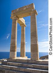 Acropolis of Lindos on Rhodes island