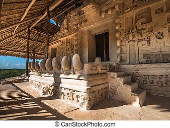 Acropolis, the largest structure at Ek' Balam ruins, Yucatan...