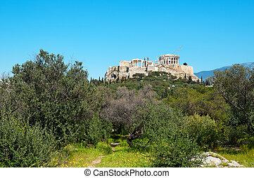 Acropolis view from Filopappou Hill