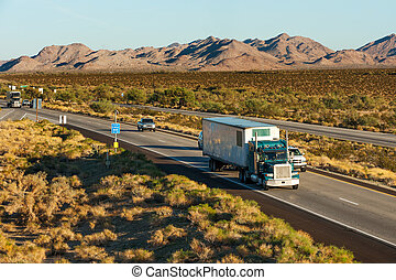 Across America - Traffic moving across America on interstate...