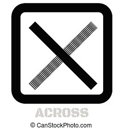 Across conceptual graphic icon