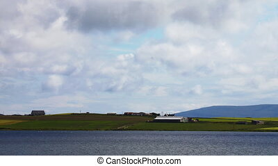 Across the Loch of Harray, Orkney, Scotland - Across the...