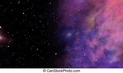Across the Universe, Nebula and Star Fields - Colorful...